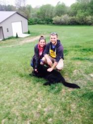 Khya the German Shepard dog- White Lakes, Michigan